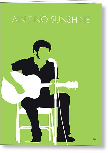 No156 My Bill Withers Minimal Music Poster Greeting Card