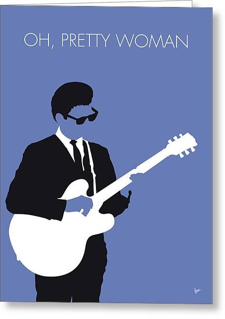 No158 My Roy Orbison Minimal Music Poster Greeting Card