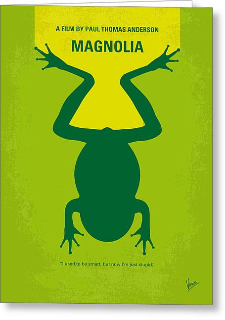 No159 My Magnolia Minimal Movie Poster Greeting Card