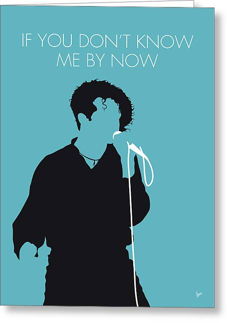 No165 My Simply Red Minimal Music Poster Greeting Card