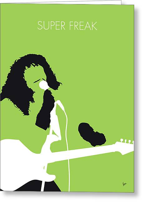 No166 My Rick James Minimal Music Poster Greeting Card