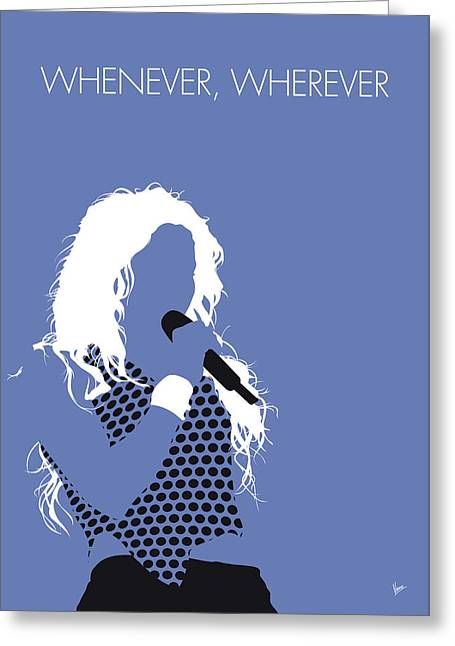 No168 My Shakira Minimal Music Poster Greeting Card