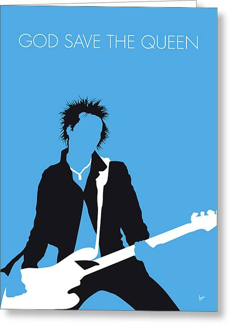 No169 My Sex Pistols Minimal Music Poster Greeting Card