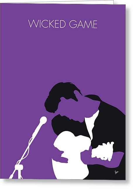 No171 My Chris Isaak Minimal Music Poster Greeting Card