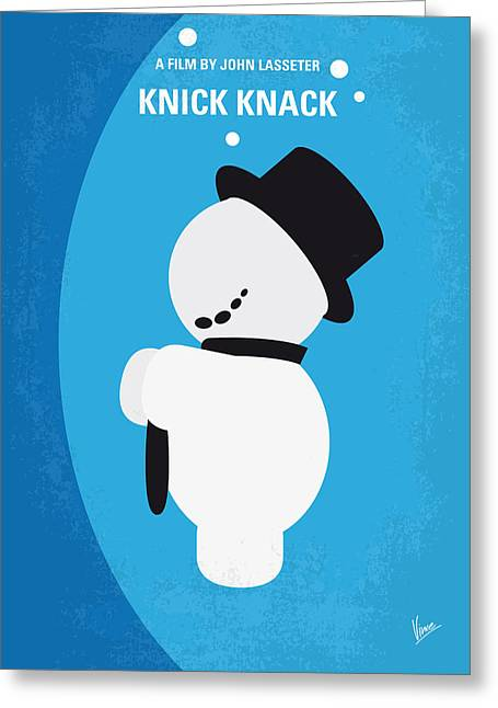 No172 My Knick Knack Minimal Movie Poster Greeting Card by Chungkong Art