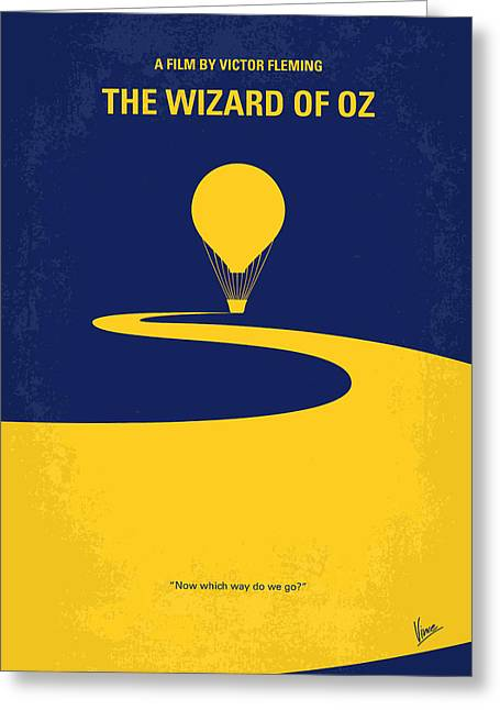 No177 My Wizard Of Oz Minimal Movie Poster Greeting Card by Chungkong Art