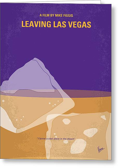 No180 My Leaving Las Vegas Minimal Movie Poster Greeting Card by Chungkong Art