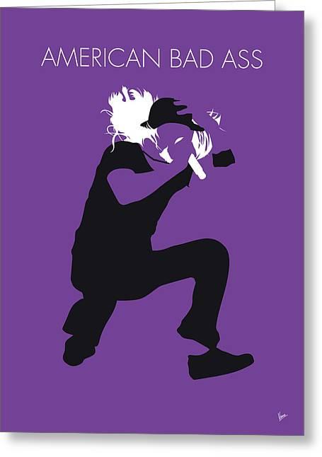 No181 My Kid Rock Minimal Music Poster Greeting Card