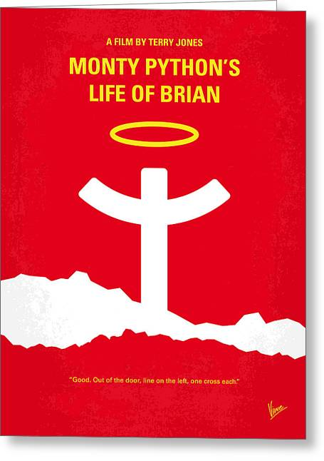 No182 My Monty Python Life Of Brian Minimal Movie Poster Greeting Card by Chungkong Art