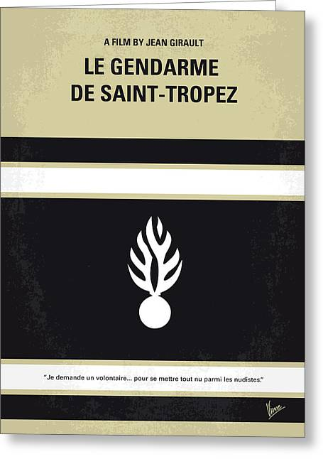 No186 My Le Gendarme De Saint-tropez Minimal Movie Poster Greeting Card