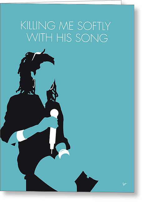 No195 My Lauryn Hill Minimal Music Poster Greeting Card