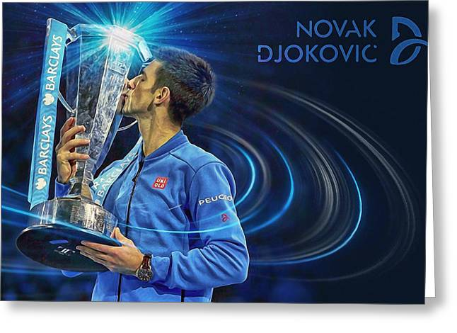 No1e  -  Novak Djokovic Greeting Card
