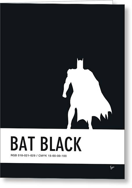 No20 My Minimal Color Code Poster Batman Greeting Card by Chungkong Art