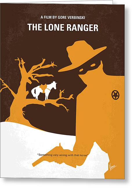 No202 My The Lone Ranger Minimal Movie Poster Greeting Card by Chungkong Art