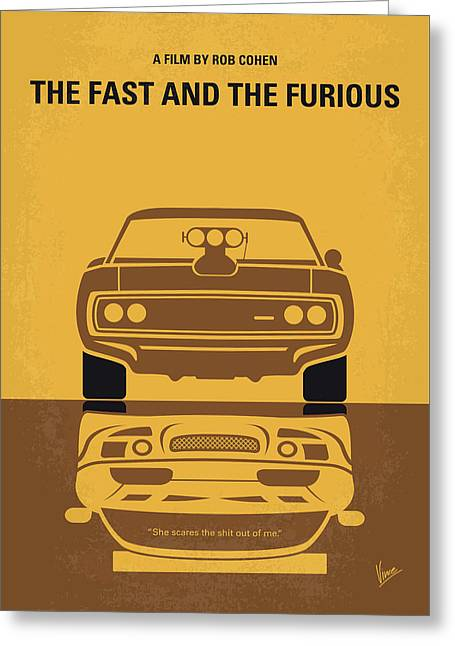 No207 My The Fast And The Furious Minimal Movie Poster Greeting Card
