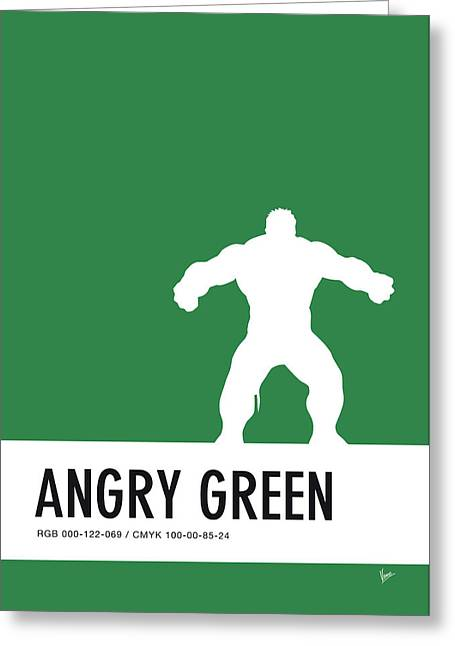 No22 My Minimal Color Code Poster Hulk Greeting Card