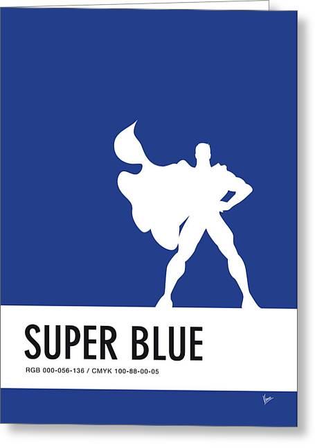 No23 My Minimal Color Code Poster Superman Greeting Card