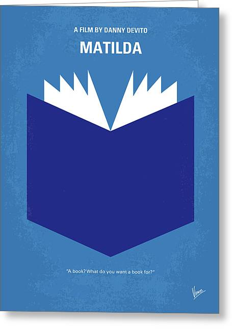 No291 My Matilda Minimal Movie Poster Greeting Card