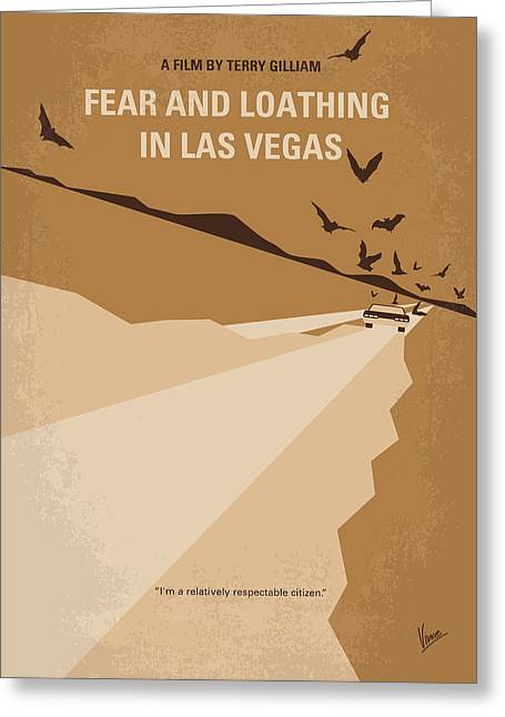 No293 My Fear And Loathing Las Vegas Minimal Movie Poster Greeting Card