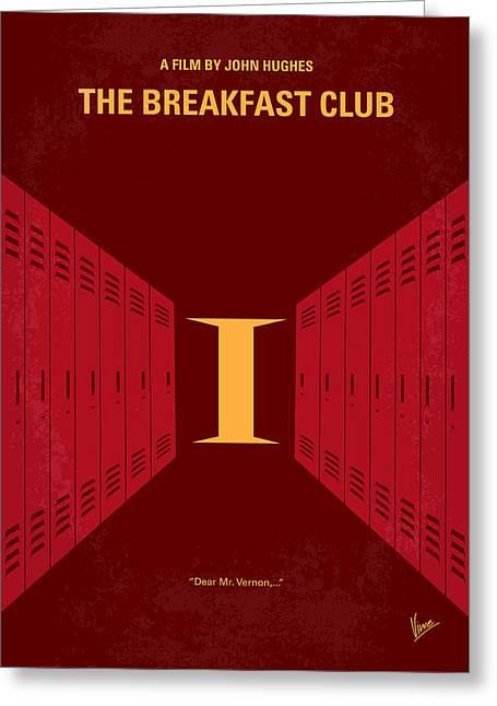 No309 My The Breakfast Club Minimal Movie Poster Greeting Card