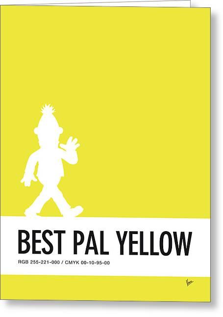 No31 My Minimal Color Code Poster Bert Greeting Card by Chungkong Art
