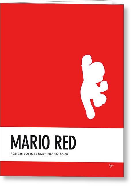 No33 My Minimal Color Code Poster Mario Greeting Card