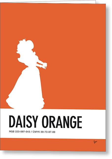 No35 My Minimal Color Code Poster Princess Daisy Greeting Card