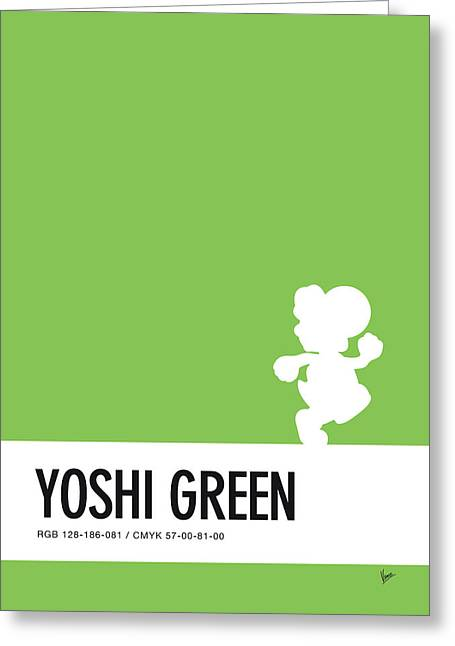 No36 My Minimal Color Code Poster Yoshi Greeting Card