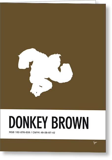 No37 My Minimal Color Code Poster Donkey Kong Greeting Card