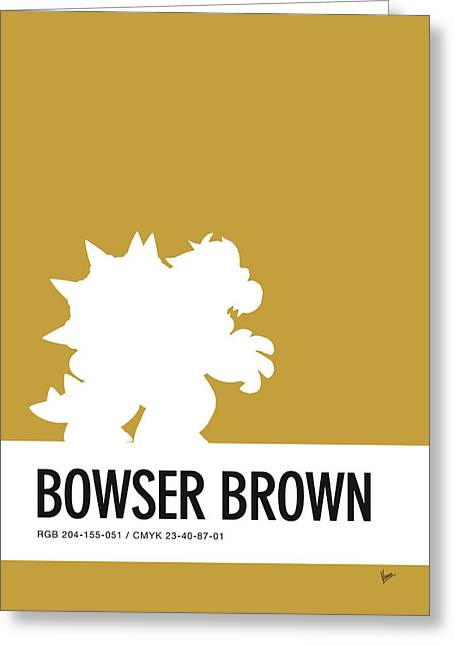 No38 My Minimal Color Code Poster Bowser Greeting Card
