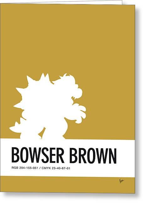 No38 My Minimal Color Code Poster Bowser Greeting Card