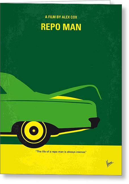 No478 My Repo Man Minimal Movie Poster Greeting Card by Chungkong Art