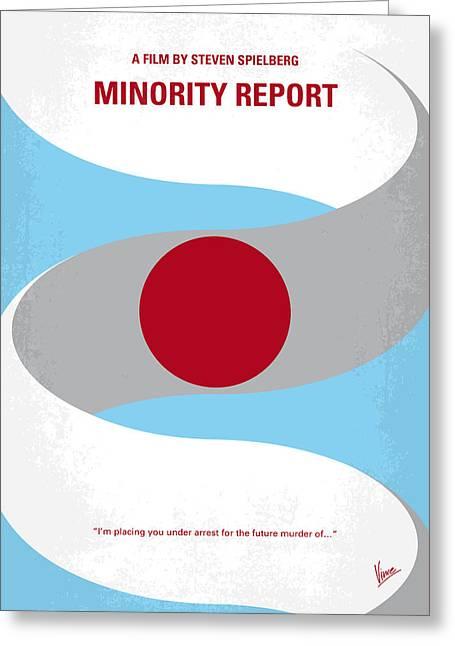 No462 My Minority Report Minimal Movie Poster Greeting Card