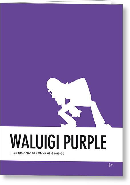 No42 My Minimal Color Code Poster Waluigi Greeting Card