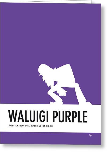 No42 My Minimal Color Code Poster Waluigi Greeting Card