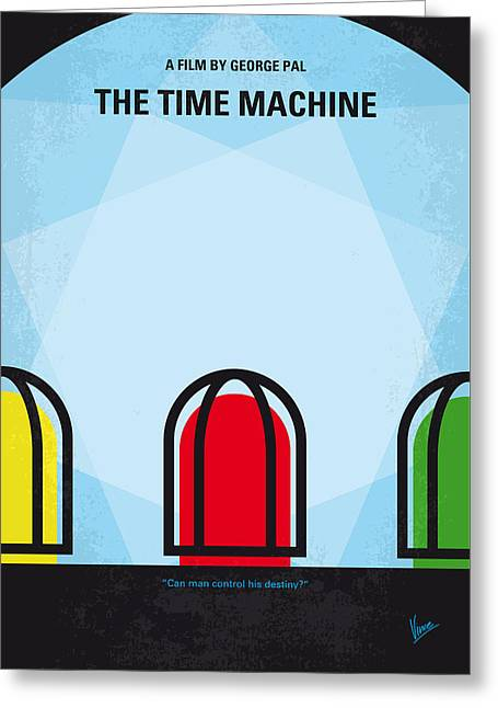 No489 My The Time Machine Minimal Movie Poster Greeting Card