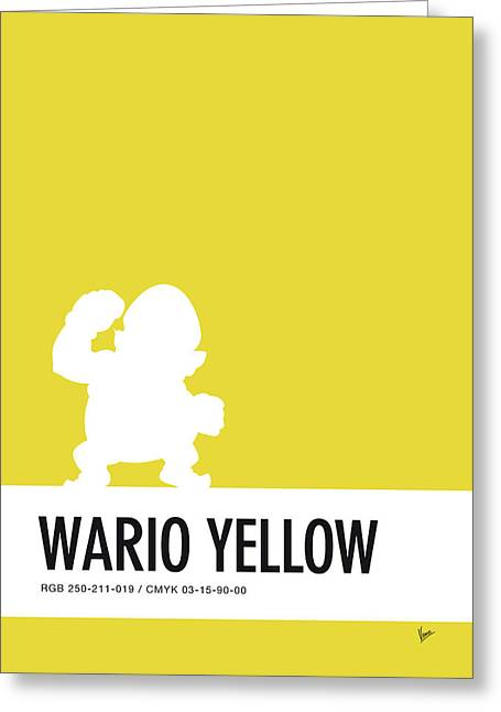 No43 My Minimal Color Code Poster Wario Greeting Card by Chungkong Art