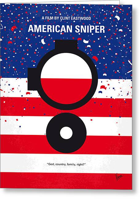 No435 My American Sniper Minimal Movie Poster Greeting Card by Chungkong Art