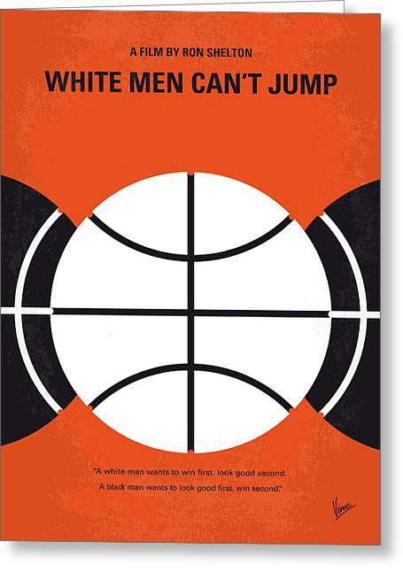 No436 My White Men Cant Jump Minimal Movie Poster Greeting Card by Chungkong Art