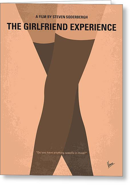 No438 My The Girlfriend Experience Minimal Movie Poster Greeting Card by Chungkong Art