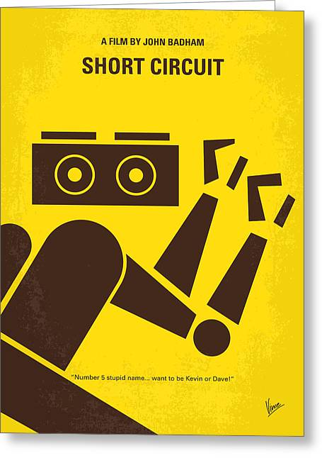 No470 My Short Circuit Minimal Movie Poster Greeting Card