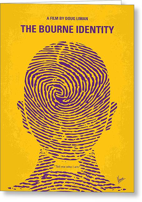 No439 My The Bourne Identity Minimal Movie Poster Greeting Card