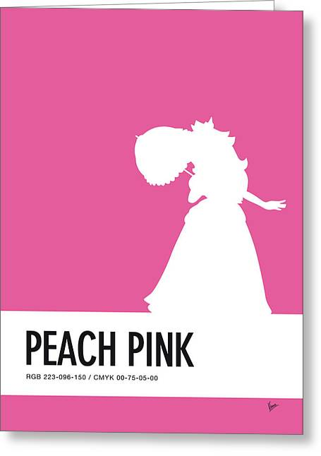 No44 My Minimal Color Code Poster Peach Greeting Card
