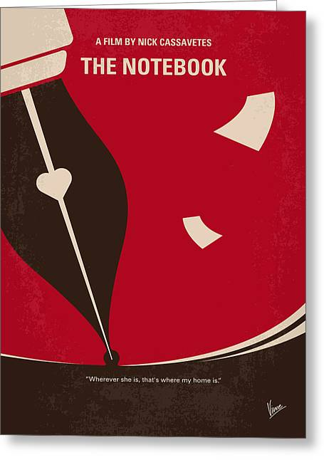 No440 My The Notebook Minimal Movie Poster Greeting Card by Chungkong Art