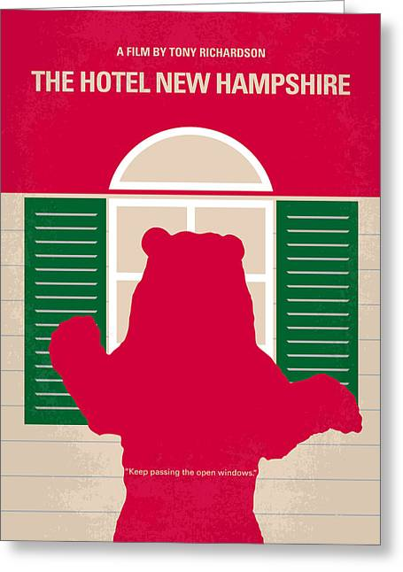 No443 My The Hotel New Hampshire Minimal Movie Poster Greeting Card