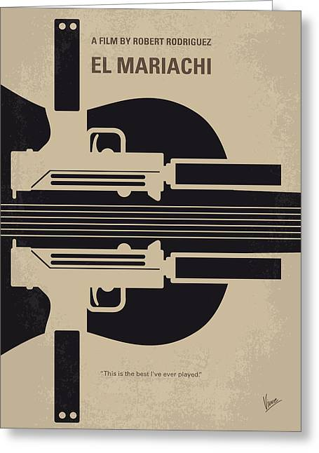 No445 My El Mariachi Minimal Movie Poster Greeting Card by Chungkong Art