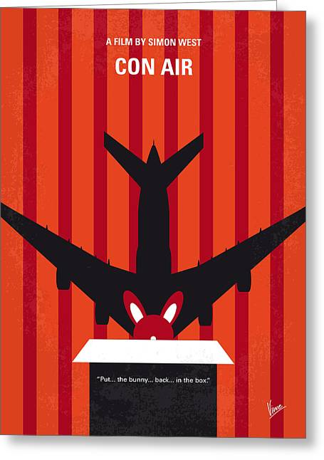 No446 My Con Air Minimal Movie Poster Greeting Card