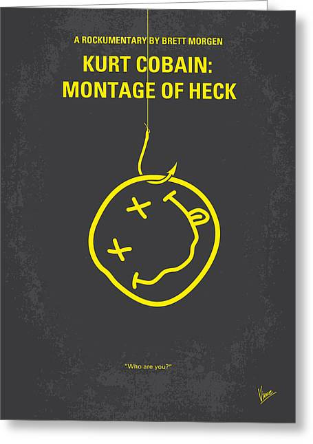No448 My Montage Of Heck Minimal Movie Poster Greeting Card