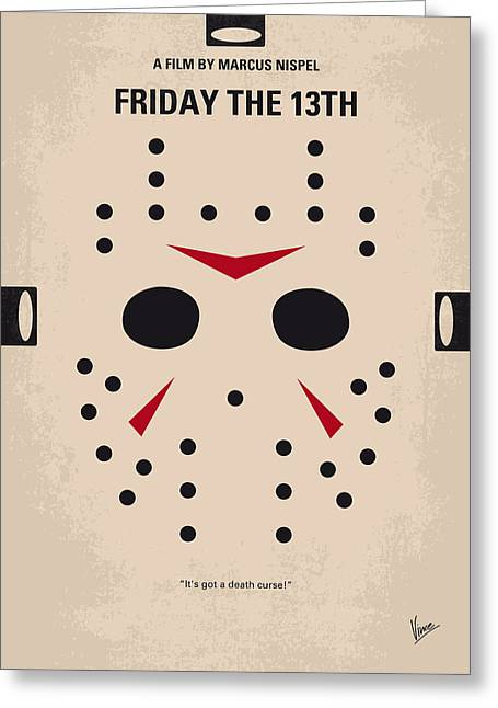 No449 My Friday The 13th Minimal Movie Poster Greeting Card by Chungkong Art