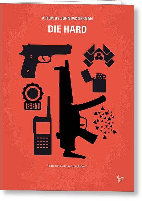No453 My Die Hard Minimal Movie Poster Greeting Card by Chungkong Art